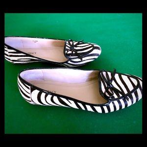 Zebra loafers